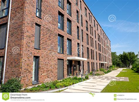 Multi Family Apartment Plans modern red brick buildings stock photo image 41305974