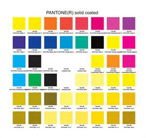 pantone color chart 8 free sles exles format