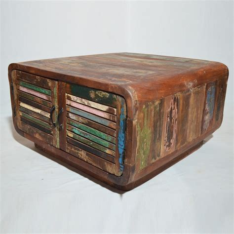 reclaimed timber coffee table salvage reclaimed timber 4 doors coffee table