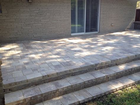 How To Make A Patio With Pavers How To Build Patio Steps Using Pavers Icamblog