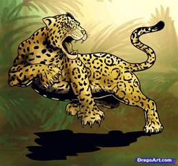How To Draw A Jaguar How To Draw A Jaguar Animal Jaguar Cat Step By Step