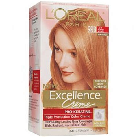 lightest strawberry blonde box l oreal excellence 9rb light reddish blonde haircolor
