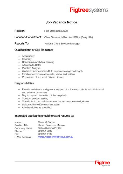 best photos of template of job posting sle job
