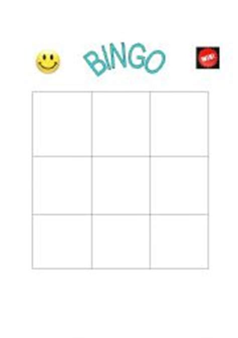 4x4 Bingo Template by 4x4 Blank Bingo Card Template