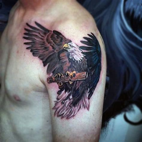 tattoo eagle under arm bald eagles humans 90 bald eagle tattoo designs for men