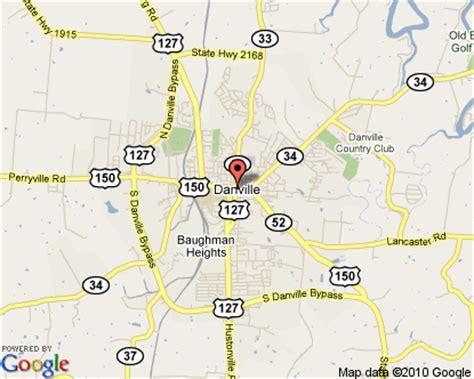 ky map danville danville kentucky