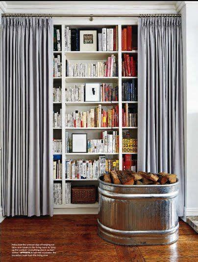 cortina libreria 191 tapar la librer 237 a con unas cortinas home ideas