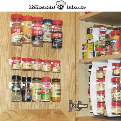 kitchen cabinet spice organizers plastic spice gripper wall rack storage holders flavoring