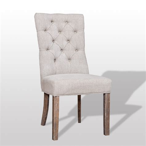 Linen Tufted Dining Chairs Torrance Tufted Linen Dining Chair Pair It With Any Table Sale