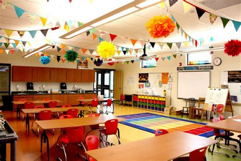 themes for class photo doing activity of decorating with classroom decoration