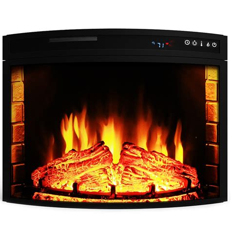 26 in electric fireplace insert elite 26 inch curved electric fireplace insert