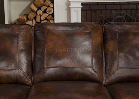 Traditional Brown Leather Sofa Brown Top Grain Leather Traditional Sofa W Optional Items