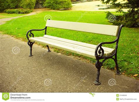 benches in park bench in park stock image image of garden bench