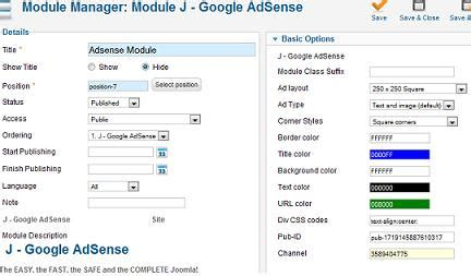 Adsense Joomla Extension | joomla 1 7 how to add adsense to your joomla website