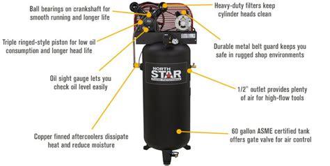 northstar electric air compressor  hp  gallon vertical tank  ebay