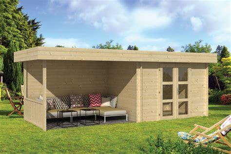groot tuinhuis met overkapping houten tuinhuis zandvoort met zijluifel 640 x 240 x 240 cm