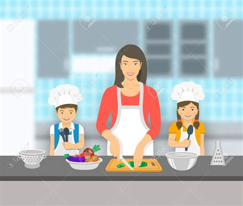 son cooking  mom clipart clipground