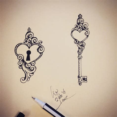 heart and key tattoos 31 ideas for couples to bond together xtras