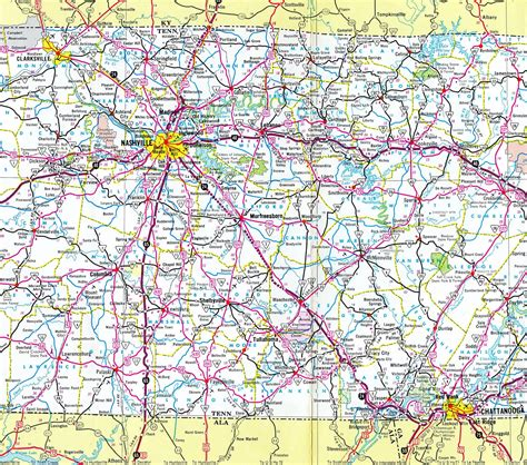 Tennessee Search Tennessee Interstate 65 Map Images Search