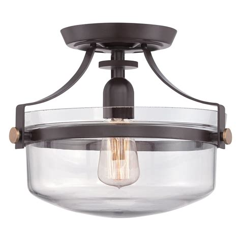 Western Ceiling Light Penn Station Semi Flush Western Bronze Ceiling Light