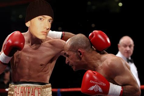 eminem movie boxing dreamworks hits eminem with a one hitter quitter movie