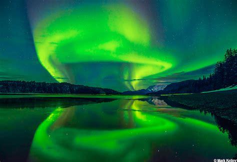 aurora echo cove juneau alaska image mark kelley