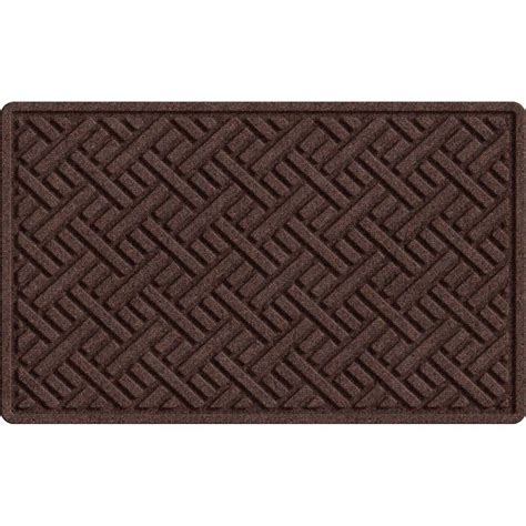 trafficmaster textures plush parquet brown 24 in x 36 in
