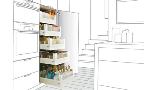clever storage solutions with blum drawers