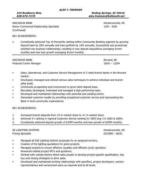 Sle Resume For Banking Operation Officer sle resume operations manager 28 images sle resume