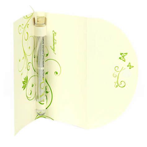 Hochzeitseinladung Reagenzglas by Hochzeitseinladung Quot Quot Mit Gr 252 Nen Ranken Weddix De