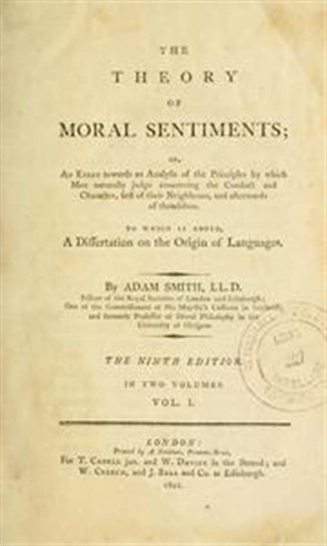 Smith Essays On Philosophical Subjects by The Theory Of Moral Sentiments