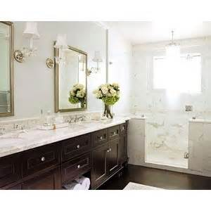 Chair Rail Vanity Bathrooms Soothing Blue Walls Chair Rail Subway Tiles