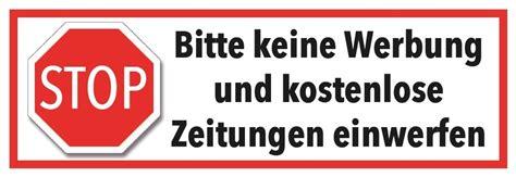 Bitte Keine Werbung Aufkleber Vorlage by Briefkasten Aufkleber Stopp Keine Werbung Und Zeitungen