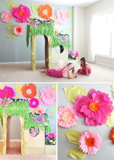 How To Make Big Flowers Out Of Paper - tissue paper flower tutorial part 1 at home with