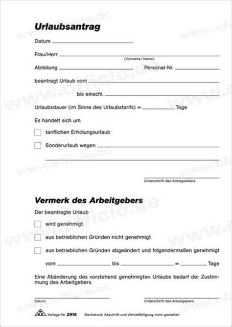 Urlaubsantrag Schreiben Muster Rnk Urlaubsantrag Formular Din A5 Selbstdurchschreibend 2x40 Blatt 2916 B 252 Roartikel Bei