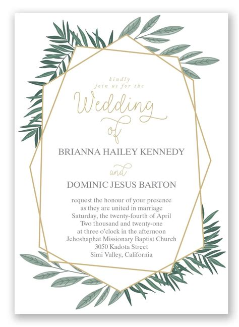 Wedding Invitations Greenery by Opulent Lines Wedding Invitation By Invitations By David S