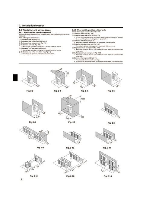 mitsubishi air conditioner installation mitsubishi pumy p yhm air conditioner installation manual