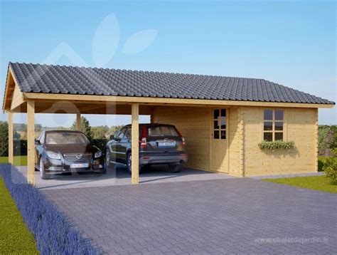 carport plus carport en bois et abri de jardin l option 2 en 1 id 233 ale