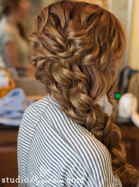 haristyle side swept and wavy braid from www