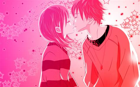 love kiss themes download love anime kiss pink wallpaper download hd love anime