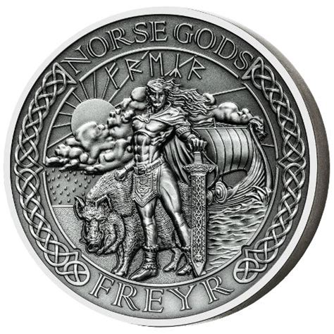 buy 2016 2 oz cook islands silver norse gods freyr coins l