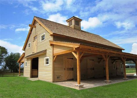 beautiful timber frame barn with high end finishes