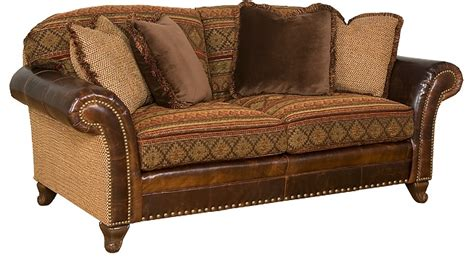 sofa with leather and fabric brown leather fabric sectional sofa 15 remarkable leather