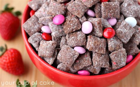 puppy chow recipie chocolate strawberry puppy chow your cup of cake