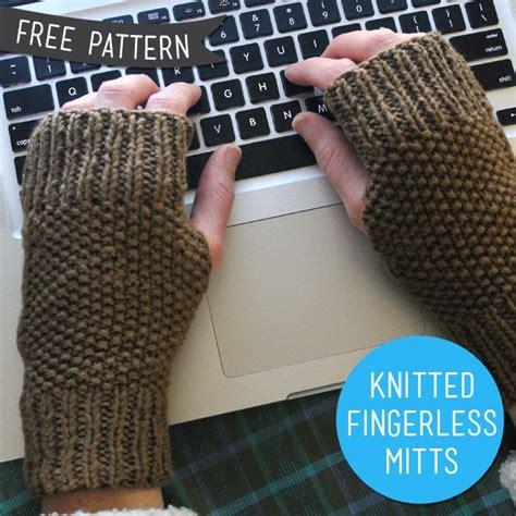 free pattern easy knit fingerless gloves knitted fingerless mitts 183 how to make fingerless gloves