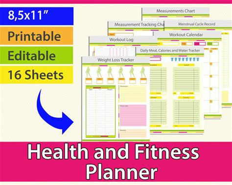 weight loss tracker fitness planner fitness journal food diary
