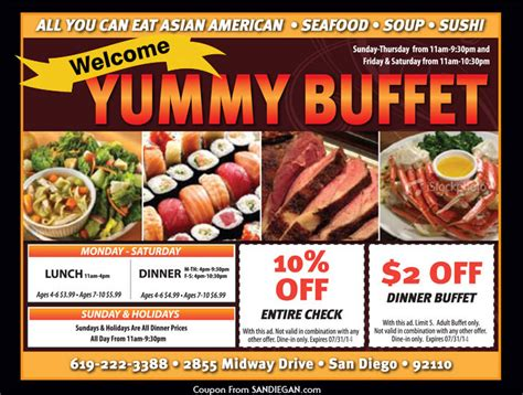 yummy buffet coupon 2017 2018 best cars reviews