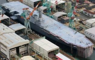 New ship the destroyer izumo is japan s largest boat since the end of