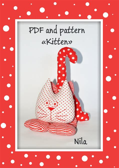 pattern master en francais plush cat kitten rag cat cat toy