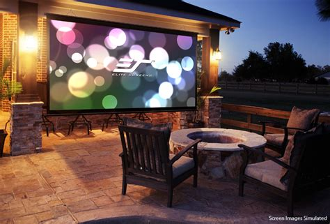 backyard projector screen outdoor projector screen for movies elite screens